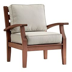HomeVance Glen View Brown Patio Club Arm Chair