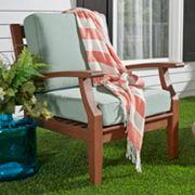 HomeVance Glen View Brown Patio Club Arm Chair