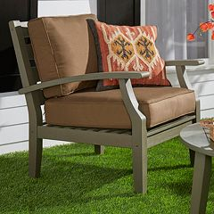 HomeVance Glen View Gray Patio Club Arm Chair