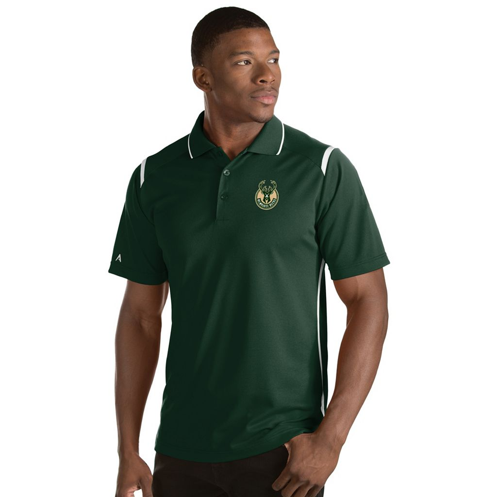 Men's Antigua Milwaukee Bucks Merit Polo