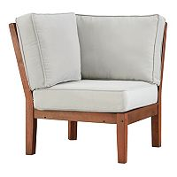 HomeVance Glen View Brown Patio Corner Chair