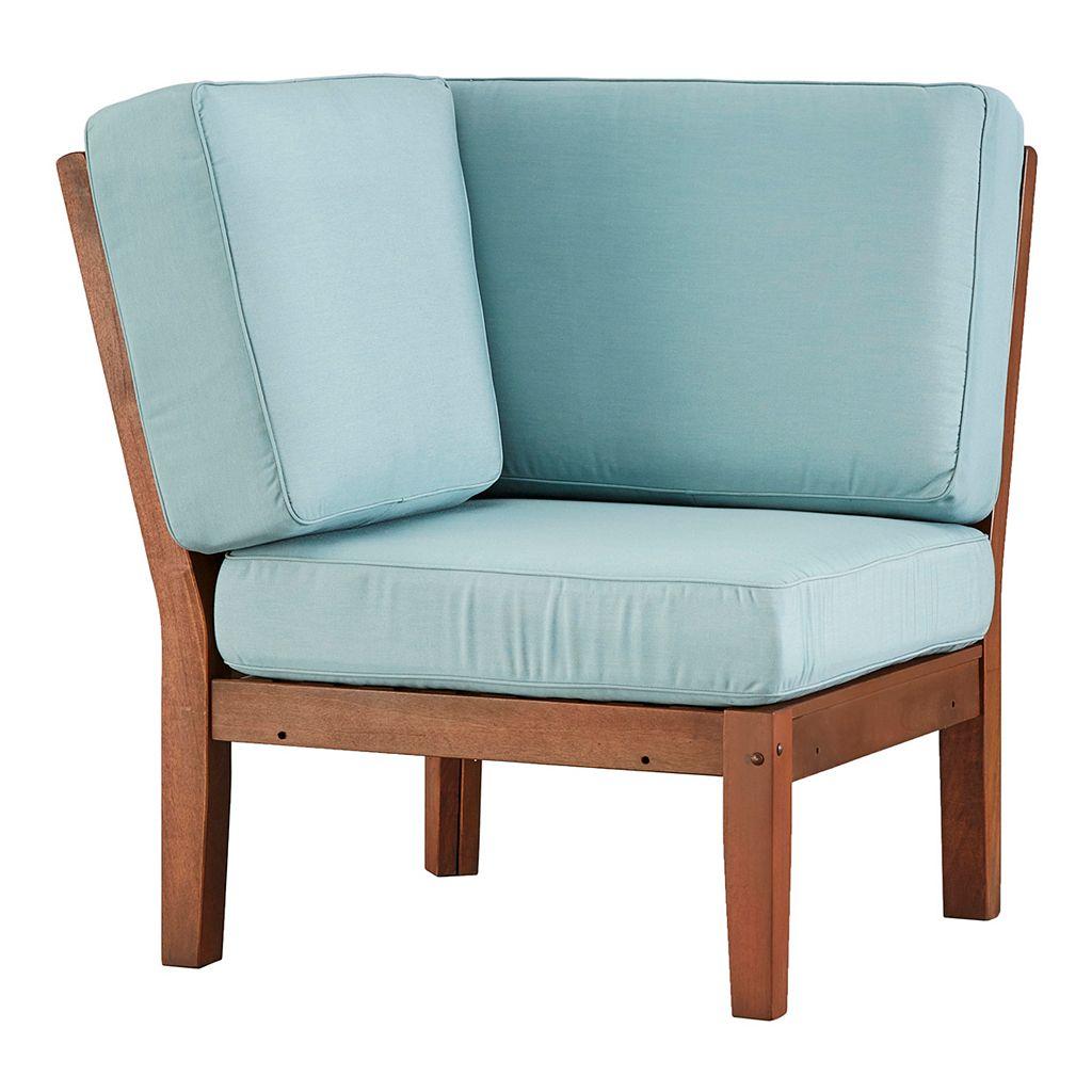 HomeVance Glen View Brown Patio Corner Chair