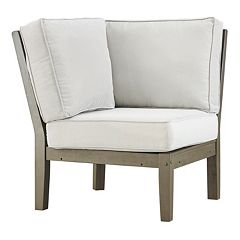 HomeVance Glen View Gray Patio Corner Chair
