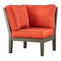 HomeVance Glen View Gray Patio Corner Chair