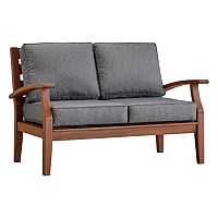 HomeVance Glen View Brown Patio Loveseat