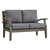 HomeVance Glen View Gray Patio Loveseat