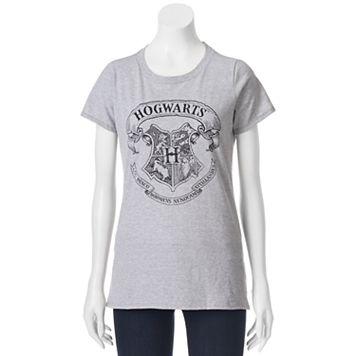 Juniors' Harry Potter Hogwarts Crest Short Sleeve Graphic Tee