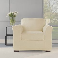 Sure Fit 2-piece Stretch Plush Chair Slipcover