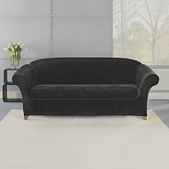 Sure Fit 2-piece Stretch Plush Sofa Slipcover