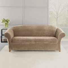 Sure Fit 2-piece Stretch Plush Sofa Slipcover