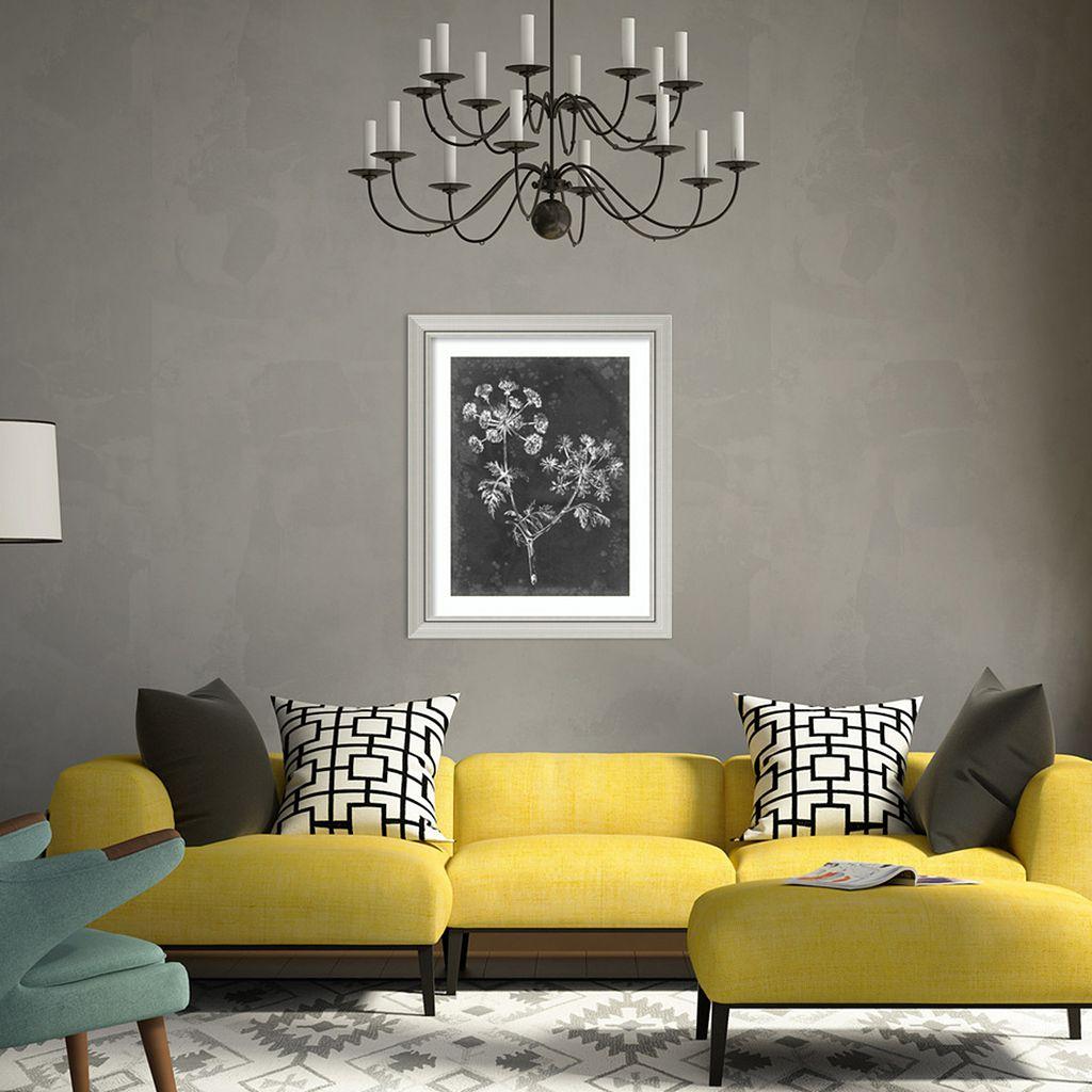 Amanti Art Slate Floral I Framed Wall Art