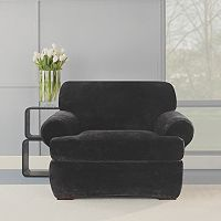 Sure Fit 2-piece Stretch Plush T-Chair Slipcover