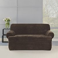 Sure Fit 2-piece Stretch Plush T-Loveseat Slipcover