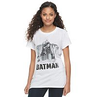 Juniors' DC Comics Batman Skyline Graphic Tee
