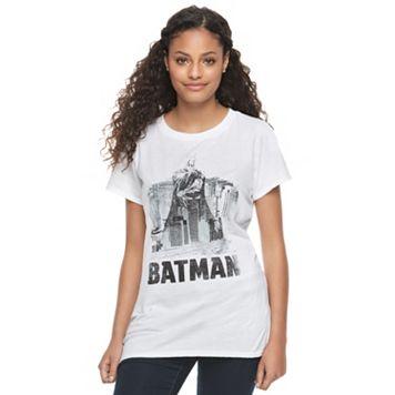 Juniors' DC Comics Batman Skyline Graphic Tee