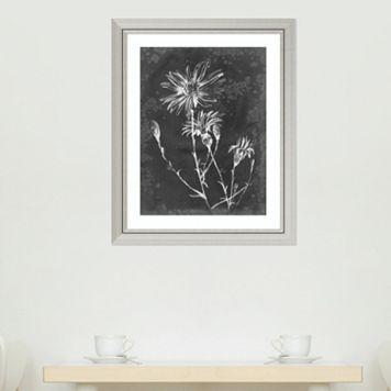 Amanti Art Slate Floral III Framed Wall Art