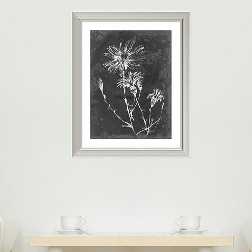 Amanti Art Slate Floral III Framed Wall Art