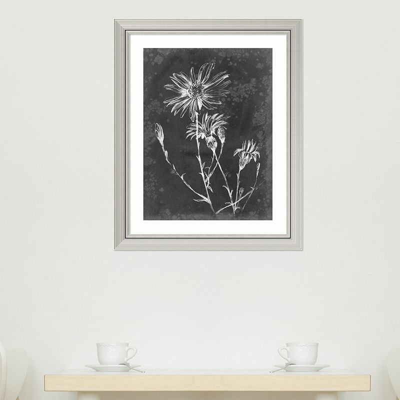 "Amanti Art Slate Floral III Framed Wall Art, 26""X32"""