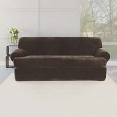 Sure Fit 2-piece Stretch Plush T-Sofa Slipcover