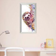 Amanti Art Sloth Framed Wall art