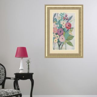 Amanti Art Soft Spring Bouquet I Framed Wall Art