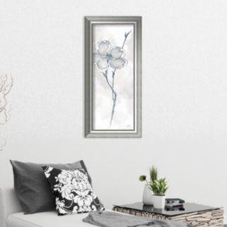 Amanti Art Solitary Dogwood II Gray Framed Wall Art