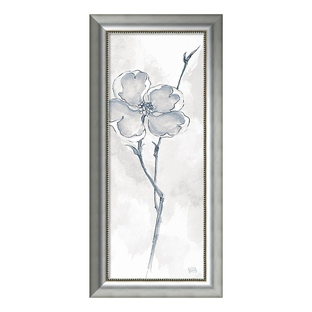 Amanti Art Solitary Dogwood II Gray Framed Wall Art