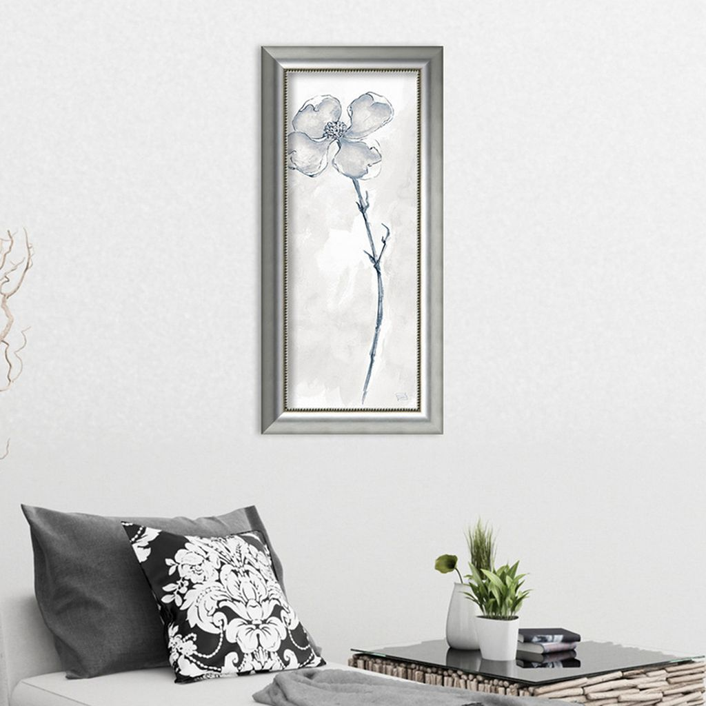 Amanti Art Solitary Dogwood III Gray Framed Wall Art