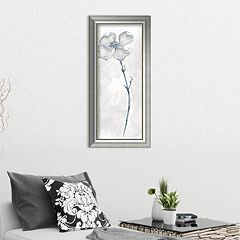 Amanti Art Solitary Dogwood III Gray Framed Wall Art