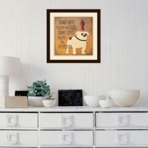 "Amanti Art ""Some Days"" Bulldog Framed Wall Art"