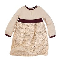 Baby Girl Burt's Bees Baby Organic Crochet Skirt Dress