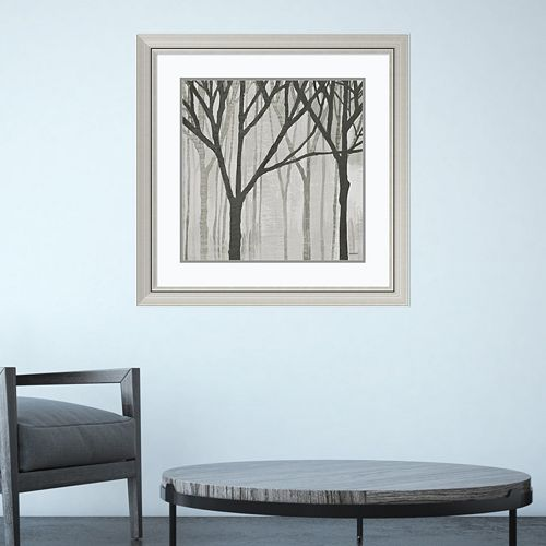 Amanti Art Spring Trees Graystone III Framed Wall Art