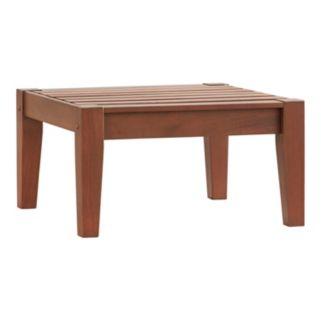 HomeVance Glen View Indoor / Outdoor Wood End Table