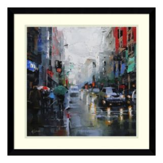 Amanti Art St. Catherine Street Rain Framed Wall Art