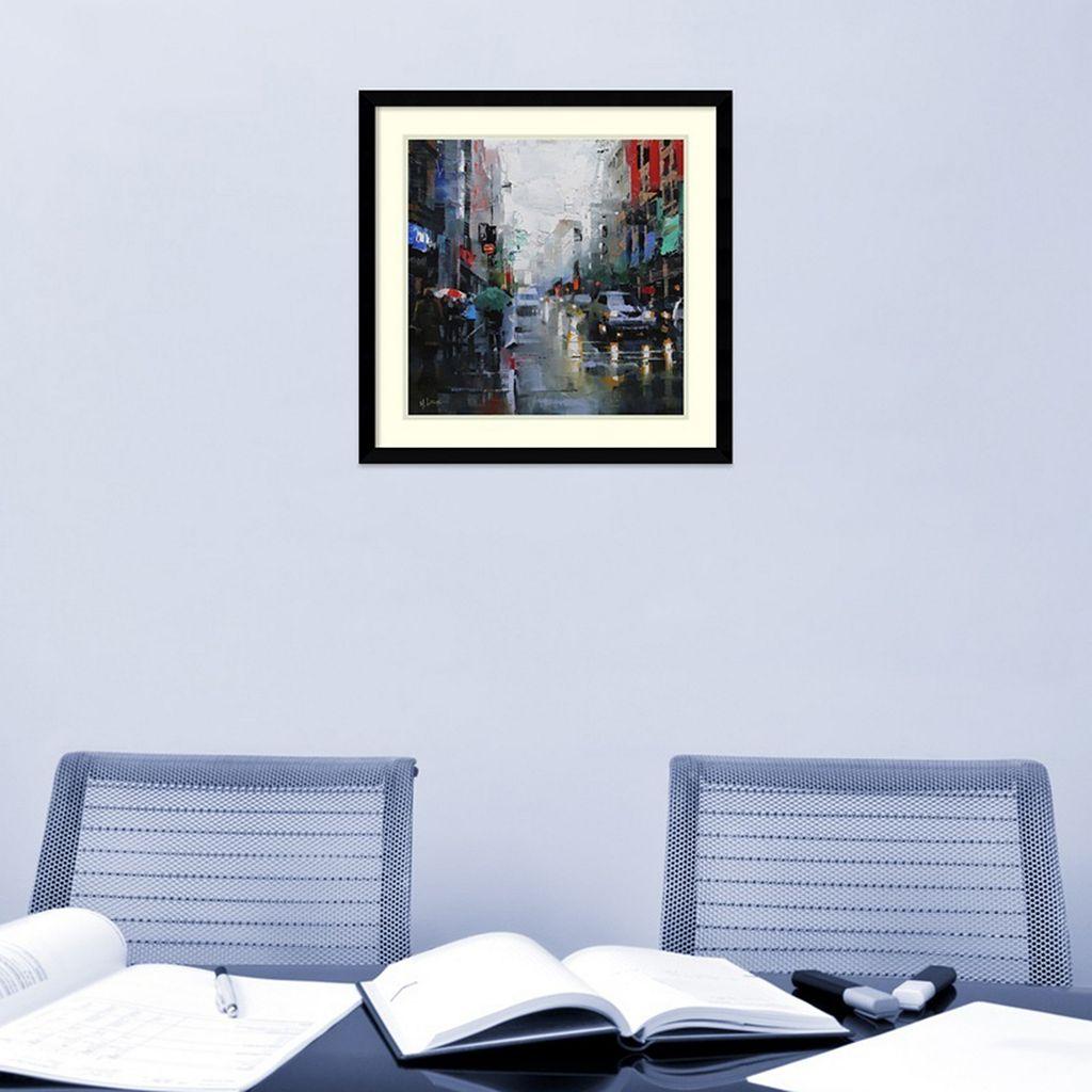 Amanti Art St. Catherine Street Rain Framed Wall Art