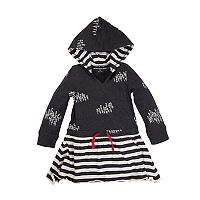 Baby Girl Burt's Bees Baby Organic Faux Drawstring Hooded Dress