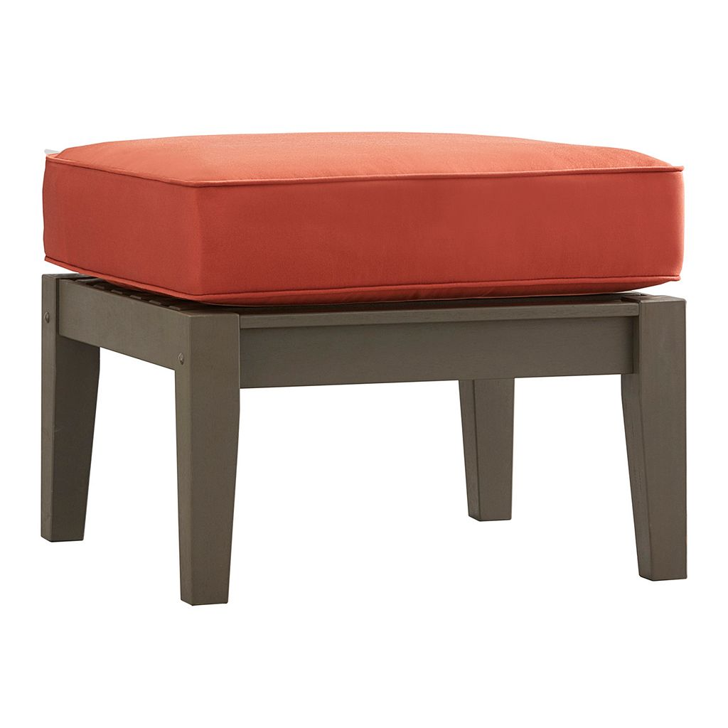 HomeVance Glen View Gray Patio Ottoman