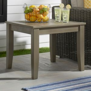 HomeVance Glen View Indoor \/ Outdoor Wood End Table