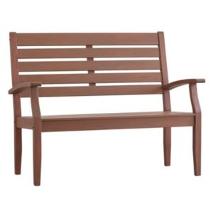 HomeVance Glen View Indoor \/ Outdoor Slatted Wood Bench