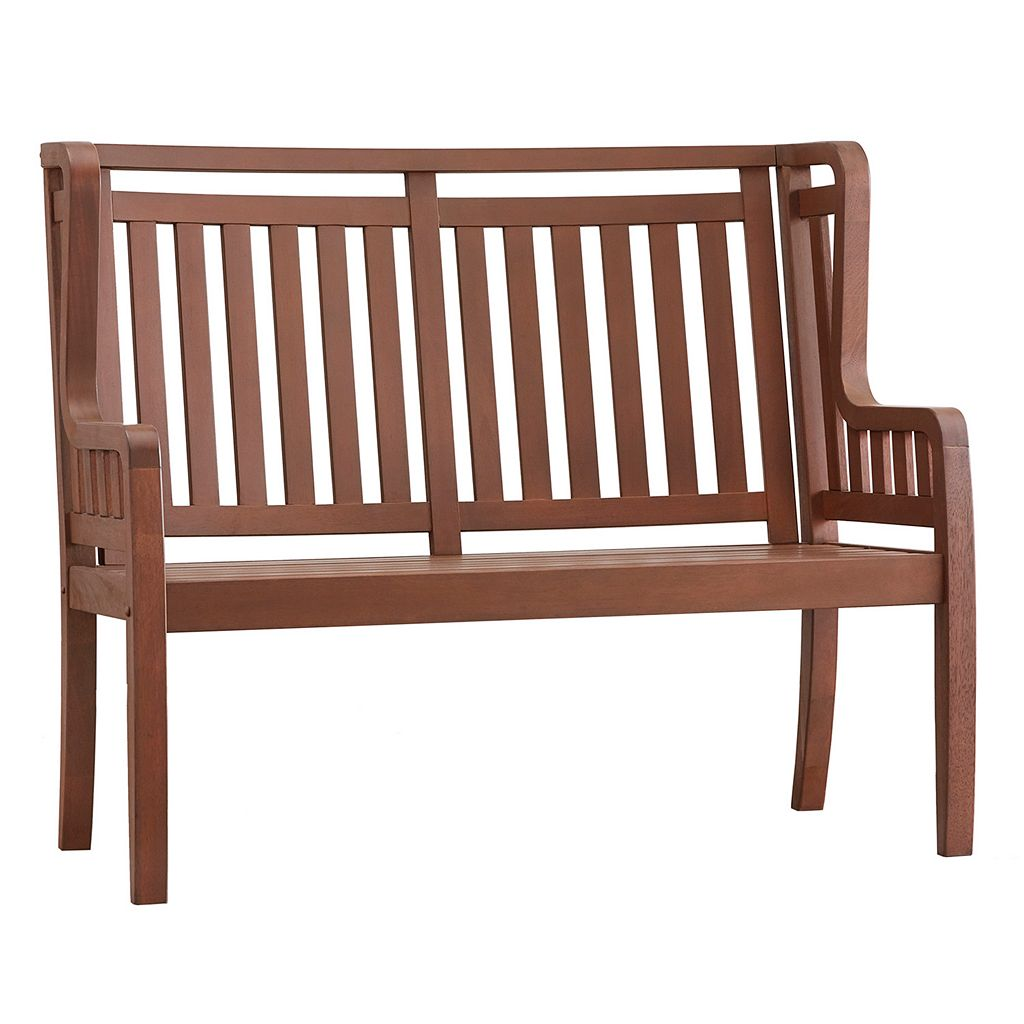 HomeVance Glen View Indoor / Outdoor Wood Bench