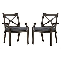 HomeVance Borego Patio Dining Chair 2-piece Set