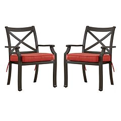 HomeVance Borego Patio Dining Chair 2 pc Set