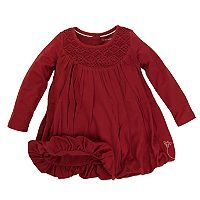 Baby Girl Burt's Bees Baby Organic Crochet Yoke Bubble Dress