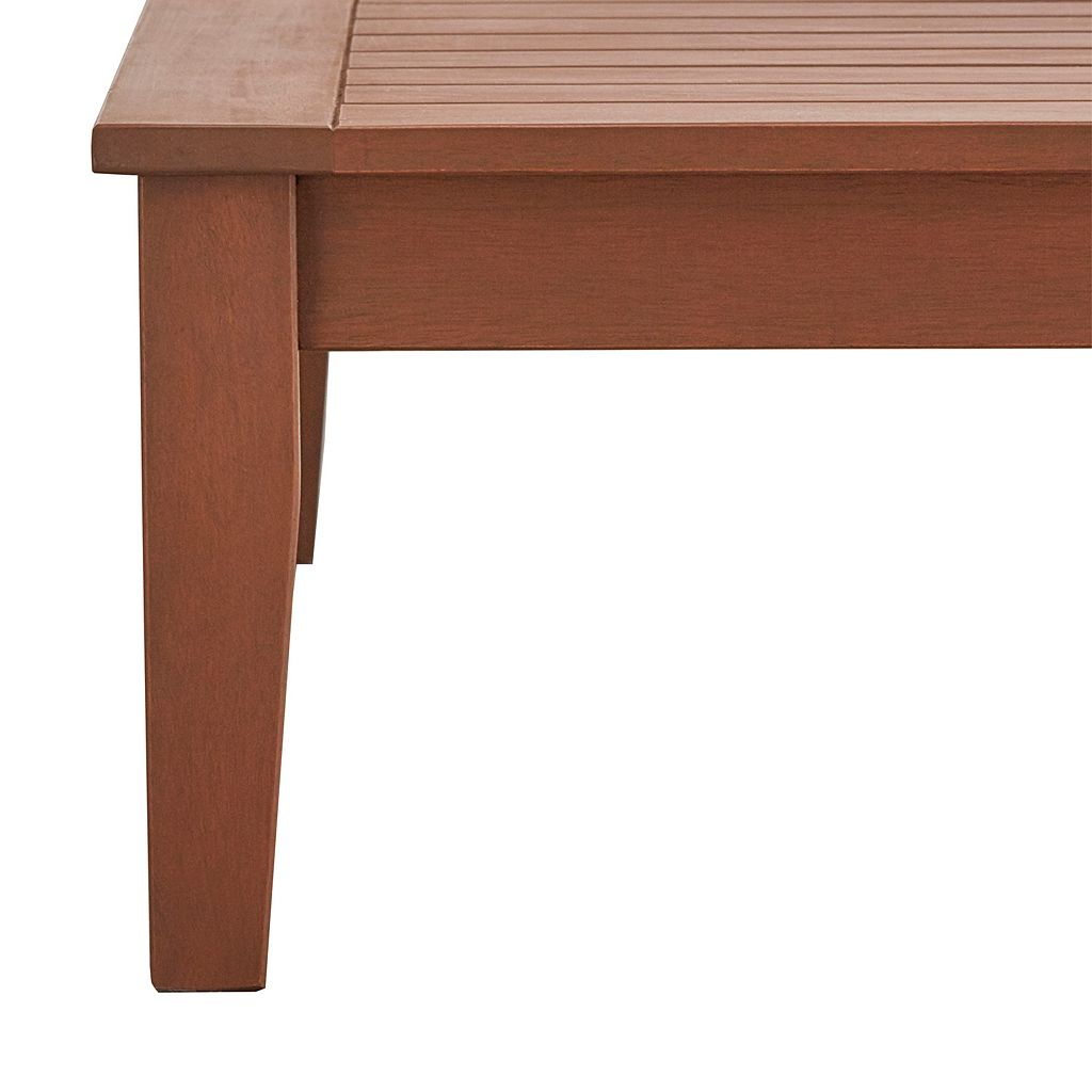 HomeVance Glen View Indoor / Outdoor Wood Coffee Table