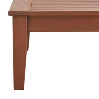 HomeVance Glen View Indoor / Outdoor Wood Coffee Table
