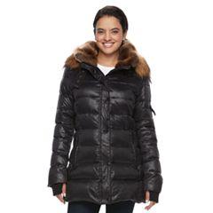 Women's S13 Chelsea Hooded Faux-Fur Trim Down-Fill Puffer Jacket