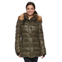 Women's S13 Chelsea Hooded Faux-Fur Trim Down-Fill Puffer Jacket