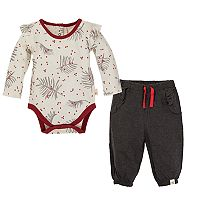 Baby Girl Burt's Bees Baby Organic Pine Bodysuit & Pants Set