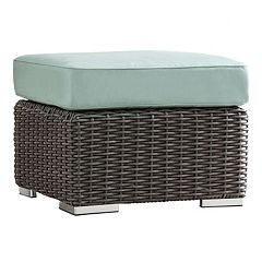 HomeVance Ravinia Charcoal Wicker Patio Ottoman