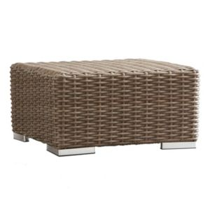 HomeVance Ravinia Wicker Patio Coffee Table Ottoman